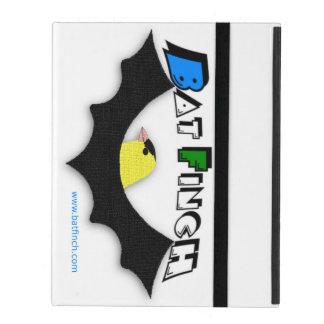 iPad case printed with BatFinch logo