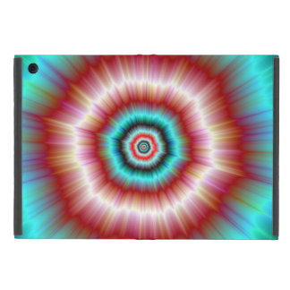 iPad Case   Red and Blue Exploding Doughnut