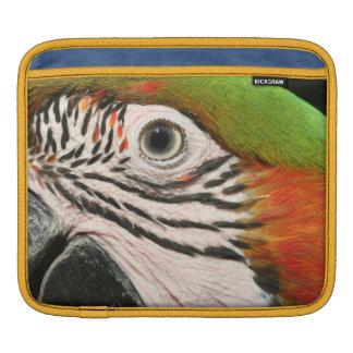 ipad case sleeve Harlequin macaw parrot bird eye iPad Sleeve