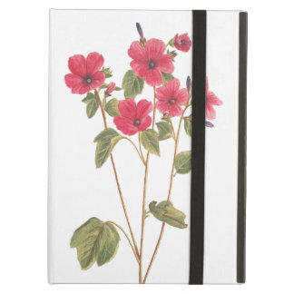 iPad case with a flower vintage illustration