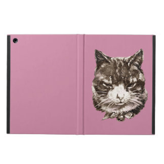 iPad Case with a vintage cat illustration
