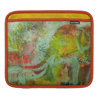 Ipad case with abstract elephant painting sleeve for iPads