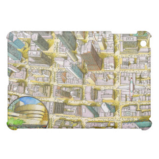 IPad case with aerial illustration of New York