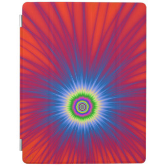 iPad Cover  Blue Explosion on Red