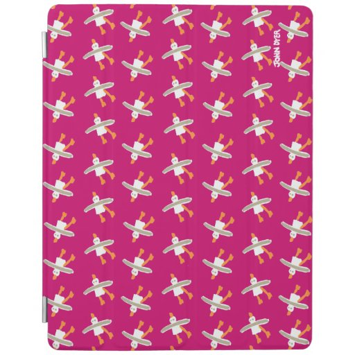 iPad Cover John Dyer Seagulls Repeat. Pink