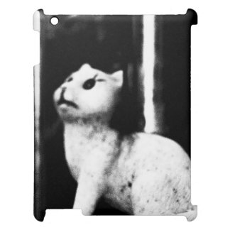 iPad Cover with Cat Statue
