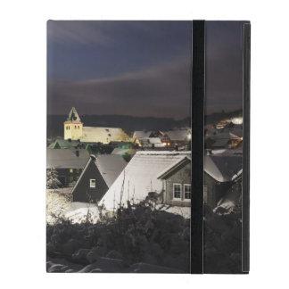 iPad covering village in the winter iPad Folio Case
