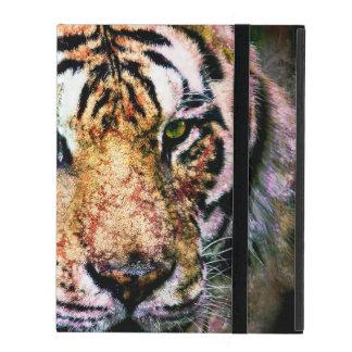 iPad Custom Case Tiger Mixed Media iPad Folio Cases