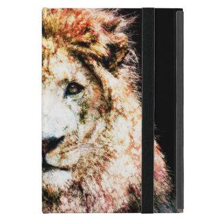 iPad Custom Cases - Lone Lion Mixed Media Case For iPad Mini