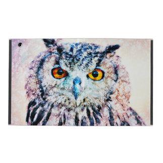 iPad Custom Cases - Owl Mixed Media Covers For iPad