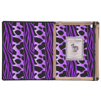 ipad DODOcase Purple Animal Print iPad Folio Cases
