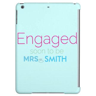 "iPad ""Engaged"" Case in Tiffany Blue"