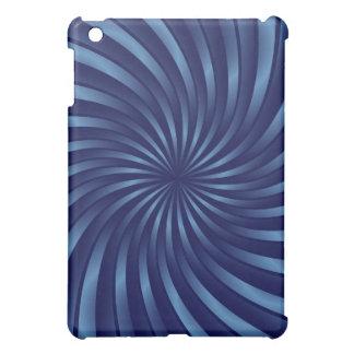 iPad Mini Case Blue Spiral Vortex