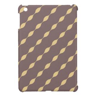 iPad mini case - Brown w/ glod yellow waves