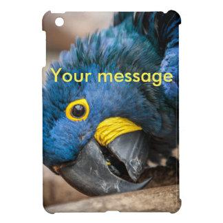ipad mini case cute blue Hyacinth Macaw parrot
