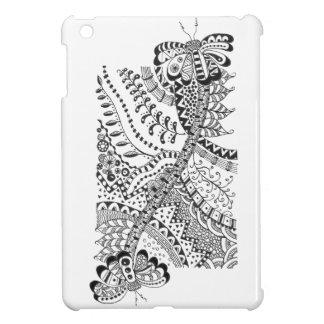 iPad Mini case with doodle art.