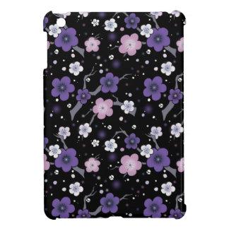 iPad Mini cover Cherry Blossom black and purple