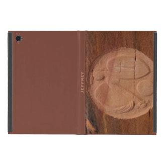 iPad Mini Folio Case Angel in the Rocks Brown Back Covers For iPad Mini