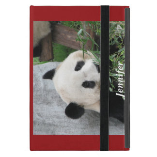 iPad Mini Folio Case, Panda, Red iPad Mini Case