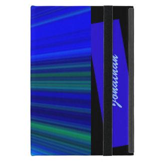 iPad Mini Folio Case, Starburst, Blue Covers For iPad Mini