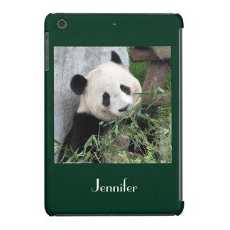 iPad Mini Retina Case Giant Panda Green Background