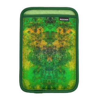 iPad Mini Vertical, Retro Vintage Green Mosaic iPad Mini Sleeve