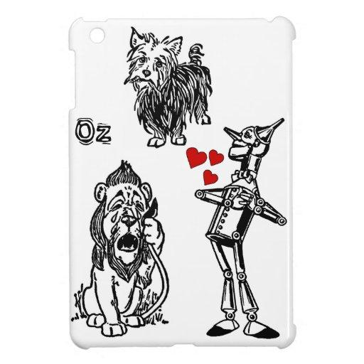 iPad mini Wizard of Oz Tin Man, Toto Cowardly Lion Case For The iPad Mini