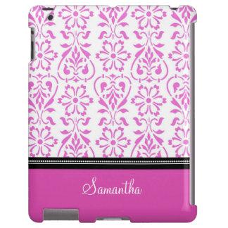 iPad Pink Damask Custom Name iPad Case