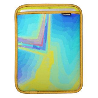 iPad Rickshaw Sleeve in tones Blue and Yellow iPad Sleeves