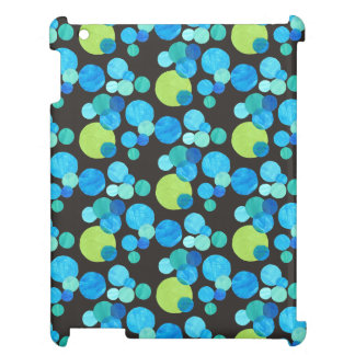 iPad Savvy Case: Blue Moons on Black Pattern Cover For The iPad