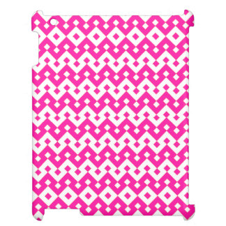 iPad Savvy Case: Candy Pink Geometric Pattern Case For The iPad