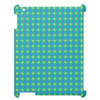iPad Savvy Case: Green, Blue Polka Dots Pattern Cover For The iPad 2 3 4
