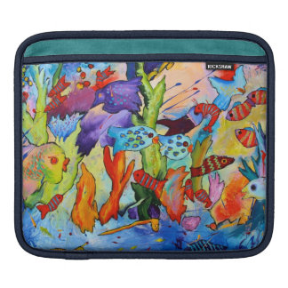 iPad sleeve featuring tropical fish