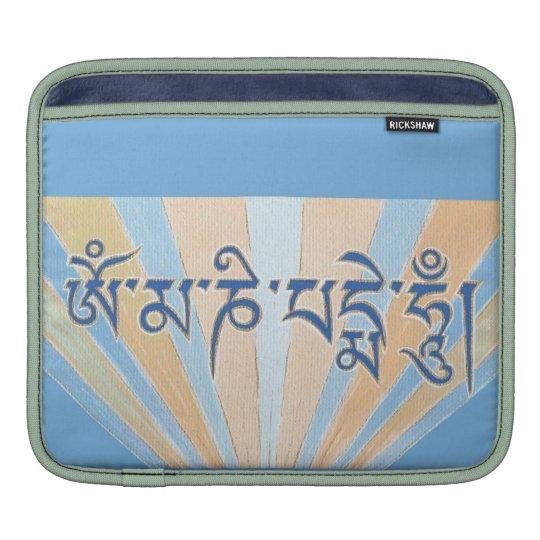 iPAD SLEEVE - Tibetan mantra: Om Mani Padme Hum