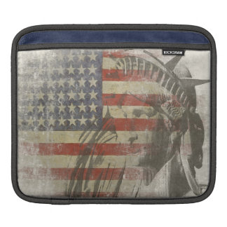 iPad sleeve with Statue of Liberty American Flag