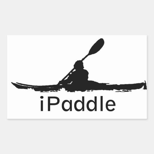 iPaddle Rectangular Sticker