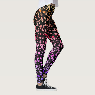 ipanema Splatter Graffiti Ripped Lace Street Style Leggings