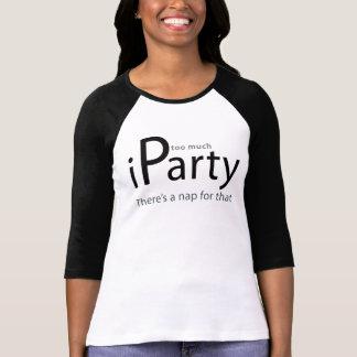 iParty long sleave blk n wht raglan Shirts
