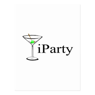 iParty Martini Postcards