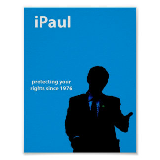 iPaul blue flyer Poster