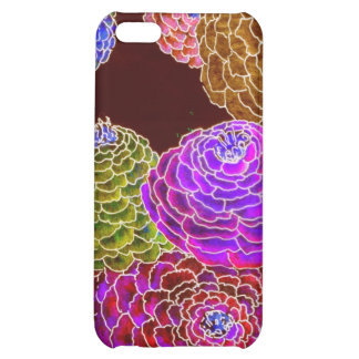 iphone4 4S-Zany Zinnias in Hot Pink iPhone 5C Cases