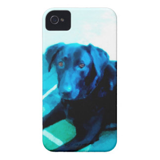 iphone4 case blue dog art labrador retriever Case-Mate iPhone 4 cases