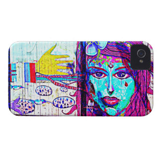 IPhone4 Case StreetArt Cool Exclusives Purple Girl