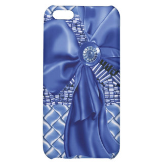 Iphone4 case with faux jeweled stones bow ribbon iPhone 5C case