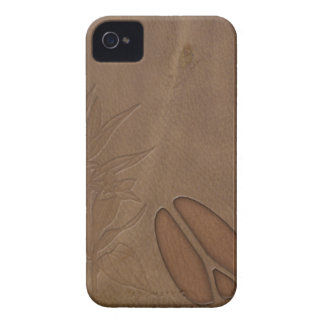 iPhone4 Masculine Deer FootPrint Leather Look iPhone 4 Case-Mate Cases
