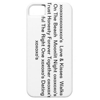 """iphone4case with"""" Love & Kisses & xoxoxo's"""" iPhone 5 Case"""