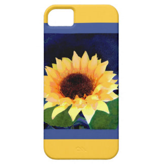 iphone5 case sunflower yellow and blue
