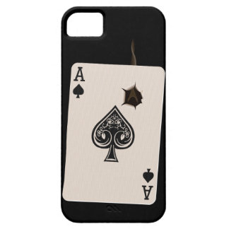 iPhone5 case with Ace of Spades with bullet hole