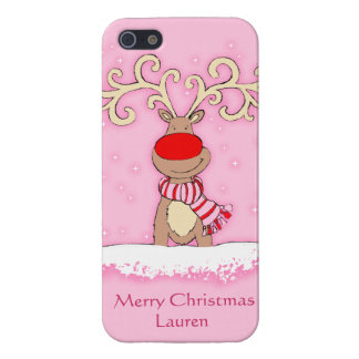 iphone5 girly pink Christmas in the snow iPhone 5 Covers