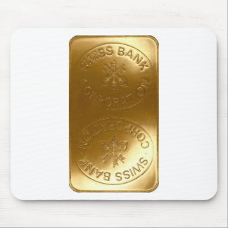iPhone5 Swiss Bank Gold Bar case Mouse Pads